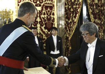 El Rey recibe las credenciales del nuevo embajador japonés