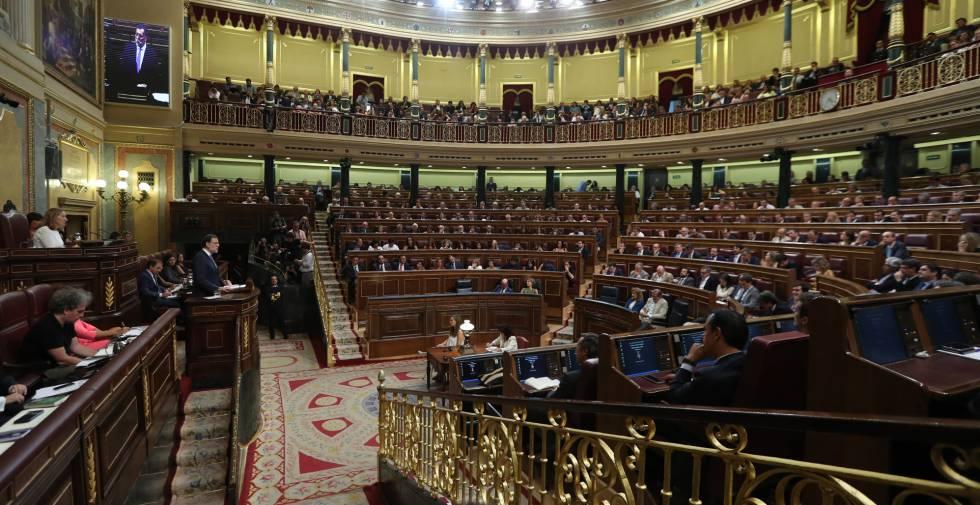 Pleno de Investidura en el Congreso de los Diputados.