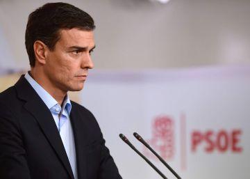 Pedro Sánchez durante la rueda de prensa de este lunes.