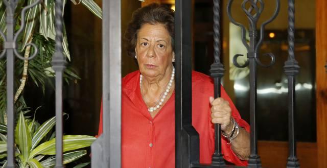 Rita Barberá saliendo de su casa, el pasado 15 de septiembre.