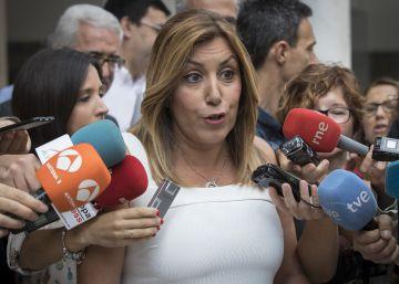 """Susana Díaz: """"Estaré donde quieran mis compañeros, en la cabeza o la cola del PSOE"""""""