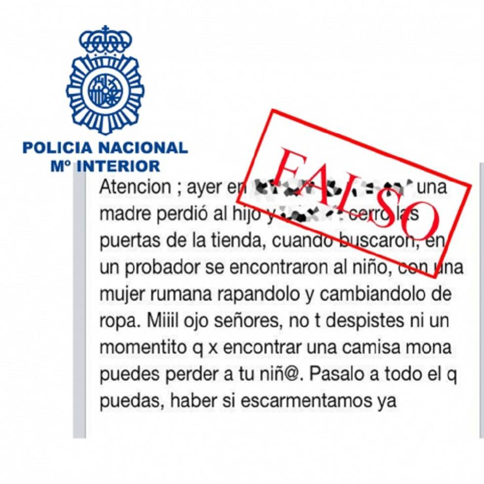 La policía advierte: no te creas estos bulos que circulan por las redes