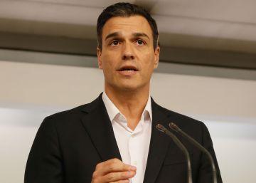 Sánchez anuncia que dimitirá si el comité federal decide la abstención ante Rajoy