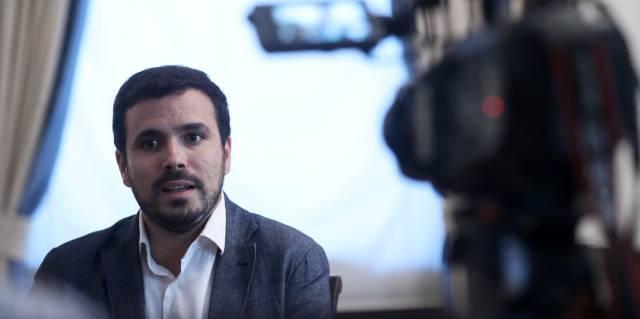 Garzón, durante la entrevista.