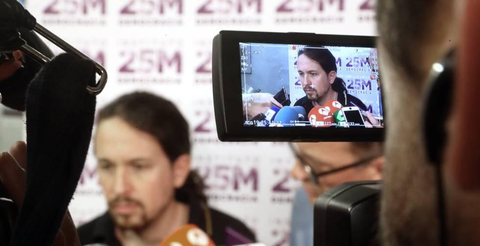 Pablo Iglesias participa durante un acto en la asociación La Morada.
