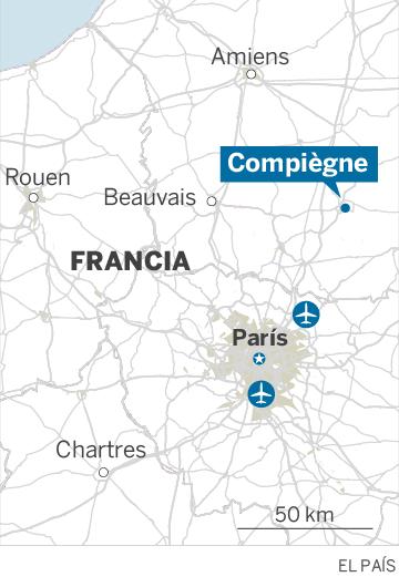 Mapa de localización de Compiégne