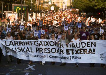 Miles de personas piden la excarcelación de los presos de ETA gravemente enfermos