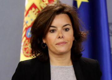 Santamaría comparece tras el Consejo de Ministros