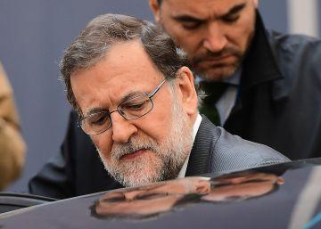 Mariano Rajoy tras la reunión de los líderes europeos en Bruselas el pasado viErnes.