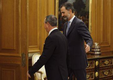 Felipe VI recibe al portavoz de Compromís, Joan Baldoví.