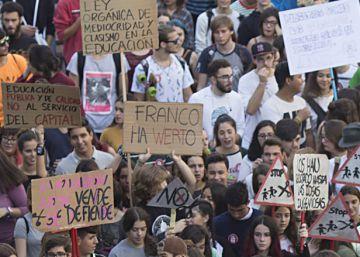 La huelga contra las reválidas de la LOMCE, en tuits