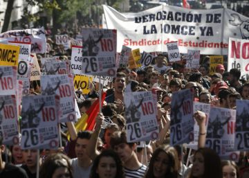 Multitudinario rechazo a las reválidas educativas en la primera huelga del curso