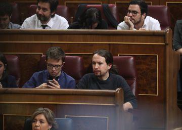 Independentistas y Podemos escenifican la división de la Cámara