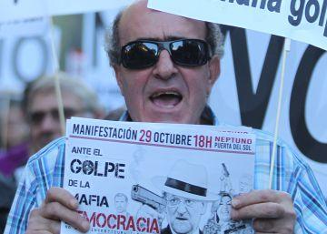 Miles de manifestantes en la protesta contra la investidura de Rajoy