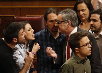 Podemos y Ciudadanos se enfrentan a gritos por las víctimas del terrorismo