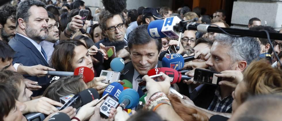 El presidente de la gestora socialista, Javier Fernández, en una imagen de archivo.