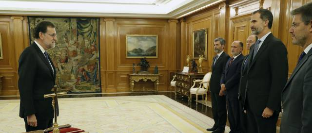 Mariano Rajoy en reunión con el Rey en La Zarzuela.