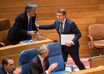 Feijóo, investido presidente de la Xunta con los únicos votos del PP