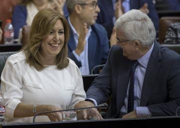 """Susana Díaz equipara a Trump con Podemos: """"Quizá beban de la misma fuente"""""""