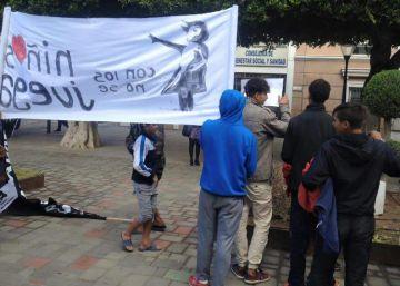 Los 'niños de la calle' se manifiestan en Melilla