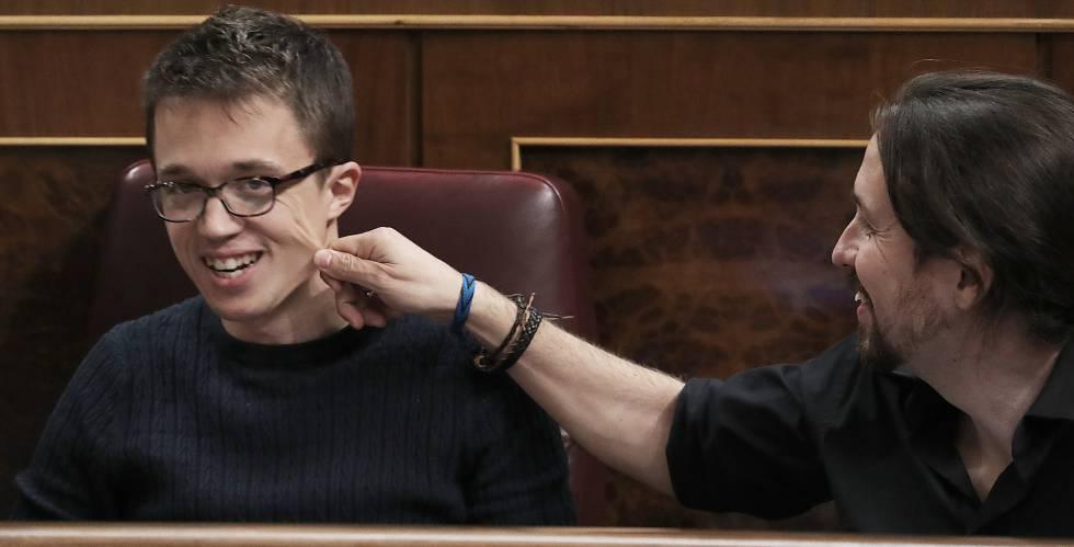 Íñigo Errejón y Pablo Iglesias, este martes.