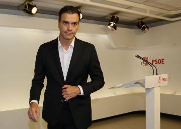 """Pedro Sánchez pide que la sanción a los diputados díscolos sea """"proporcional"""""""