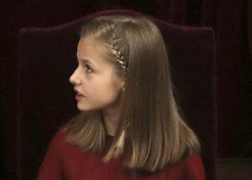 Leonor de Borbón Ortiz aprende historia en directo