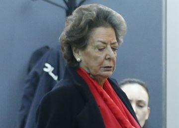 """Rita Barberá niega """"absolutamente"""" que hubiera una caja b en el PP de Valencia"""