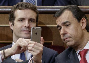 Pablo Casado comparece tras el comité de dirección del PP