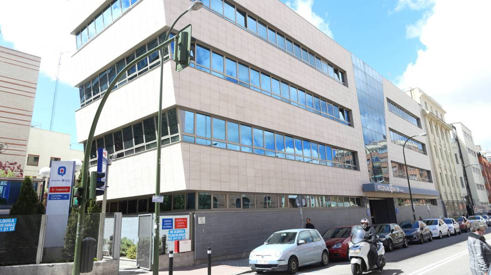 La fachada del Hospital Quirón.