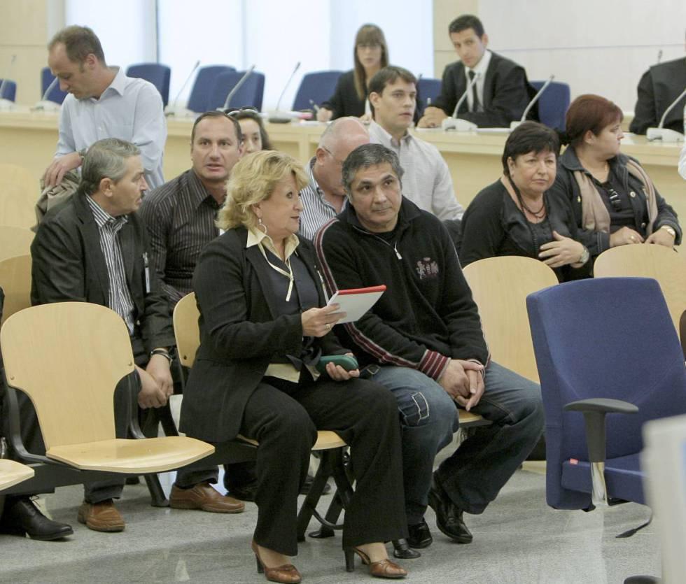 Primera sesión del juicio celebrado en noviembre de 2009 en la Audiencia Nacional contra la mafia ruso-georgiana arrestada en la Operación Avispa.