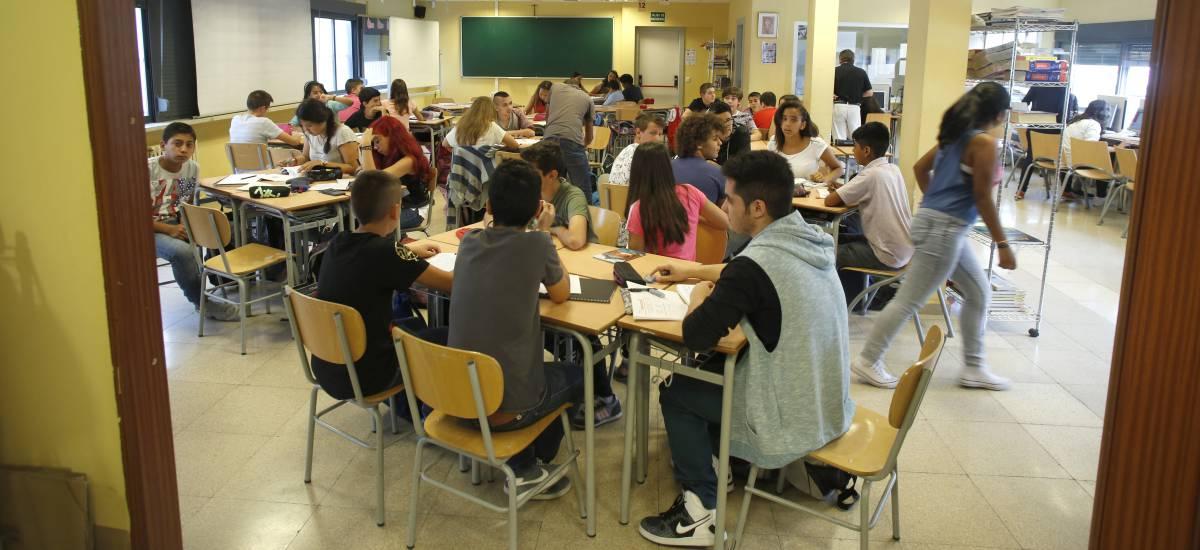 Aula de un instituto de enseñanza secundaria de Madrid.