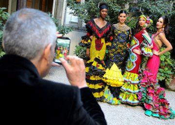 Trajes de colores africanos para la Feria de Abril