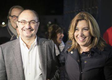 """Lambán a Susana Díaz: """"Vas a acabar mandando"""""""