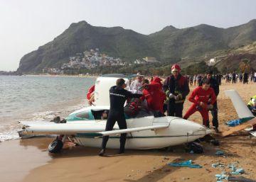 Heridos tres turistas tras el aterrizaje forzoso en una playa de Tenerife