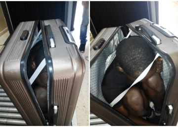 Detenida una marroquí en Ceuta por llevar a un inmigrante en una maleta