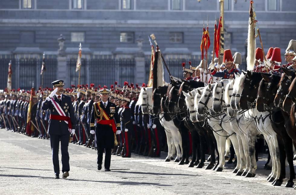 El rey Felipe VI preside la Pascua Militar, junto con la reina Leticia, con la presencia del presidente del Gobierno, Mariano Rajoy.