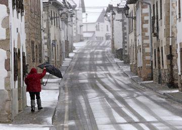 Alerta por nieve y viento en diversas zonas de la península para el fin de semana