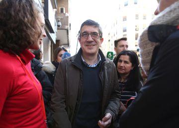 Patxi López presenta este domingo su candidatura a las primarias del PSOE