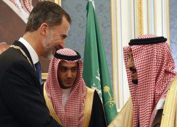 Los derechos humanos, ausentes de la primera visita de Felipe VI a Riad