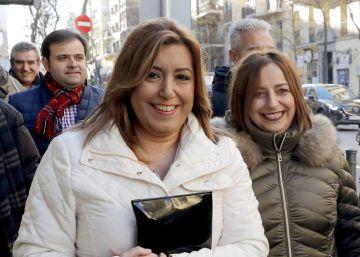 Susana Díaz aguanta la presión de la candidatura de Patxi López
