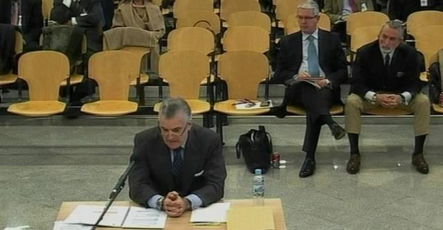 Luis Bárcenas declara como imputado durante el juicio del 'caso Gürtel´