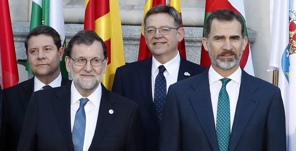 Mariano Rajoy y el Rey, este martes.