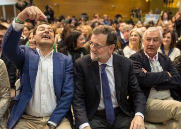 Rajoy refuerza al PP andaluz ante la pérdida de apoyos de los socialistas