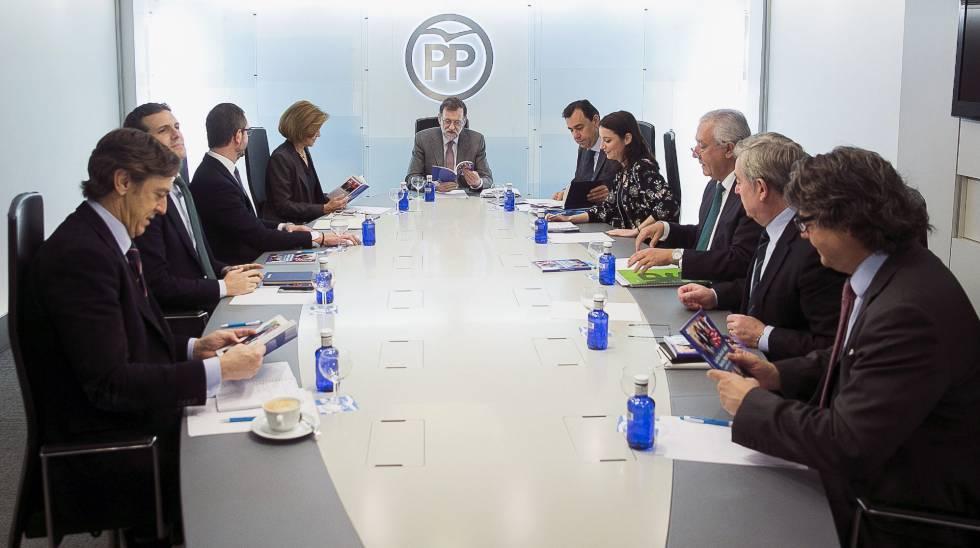 Fotografía facilitada por el PP de la reunión del Comite de Dirección del Partido Popular.