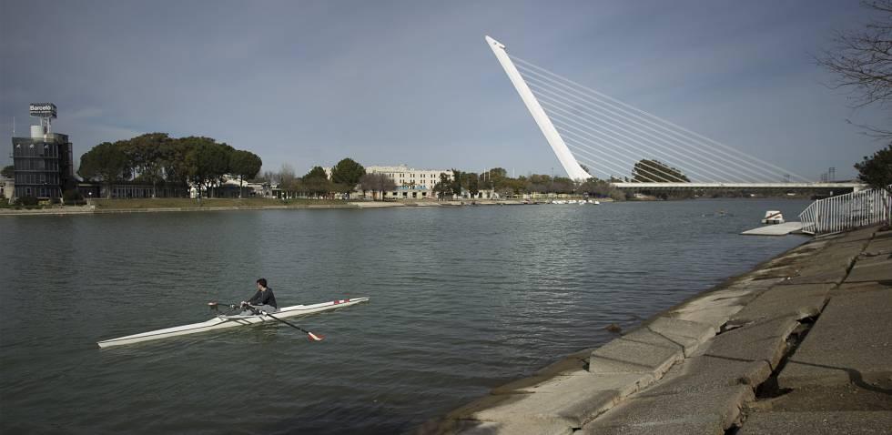 Zona del río Guadalquivir donde la policía buscará ahora el cuerpo de Marta del Castillo.