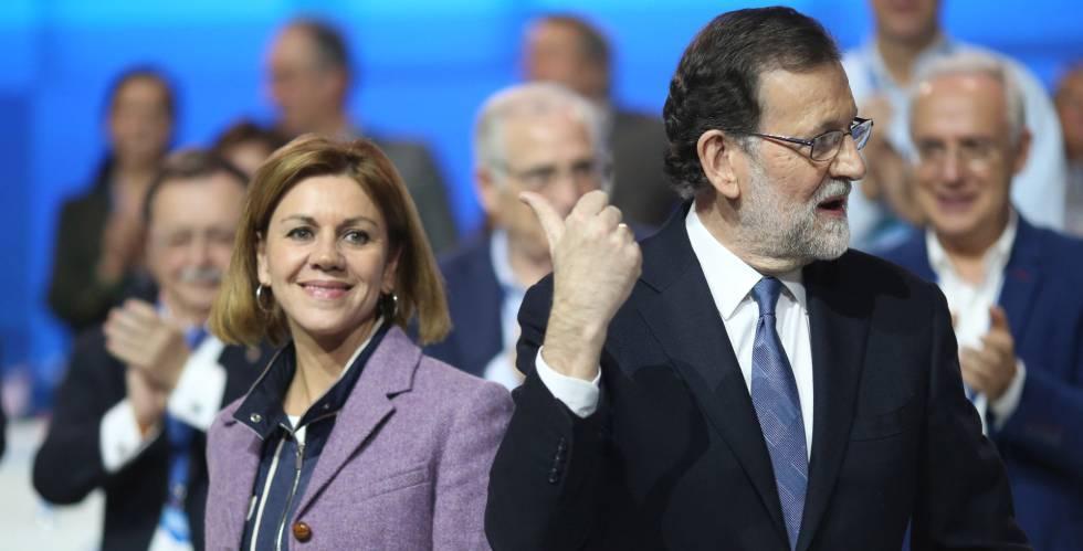 Cospedal y Rajoy, en el congreso del PP.