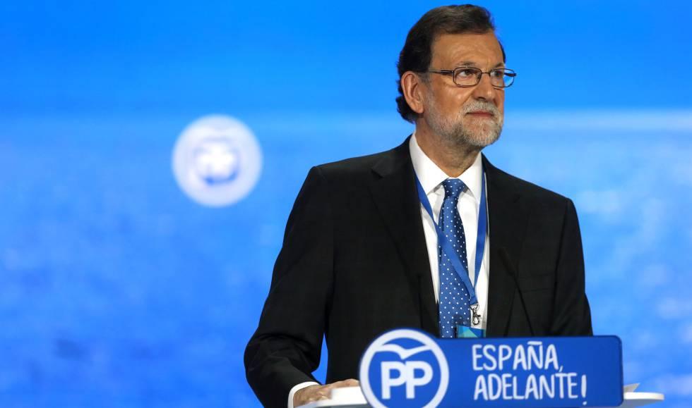 Mariano Rajoy, este domingo, en el congreso del PP.