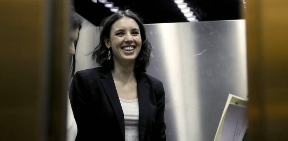 La diputada Irene Montero, en el Congreso.