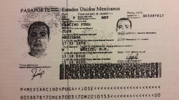 Pasaporte de José Cancino Puga.